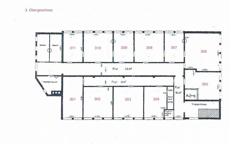 2 Büroräume in Büroetage  + Stellplatz