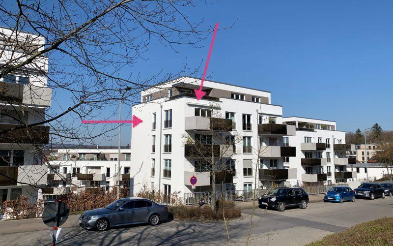 Wohnung mit Aussicht über die Stadt im Backnanger Baccarré