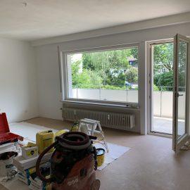 Wohnzimmer waehrend Sanierung