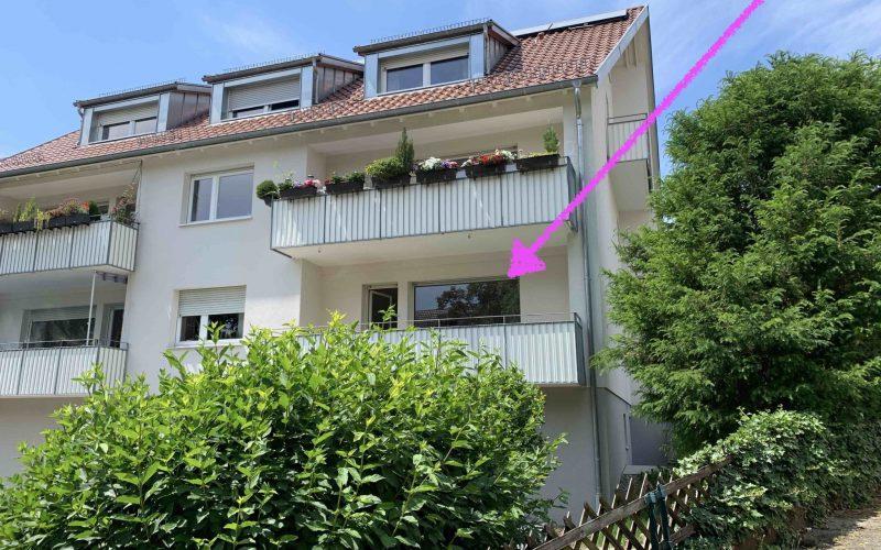 Erstbezug nach Sanierung: 2 Zi-Whg. mit Balkon + Stellplatz