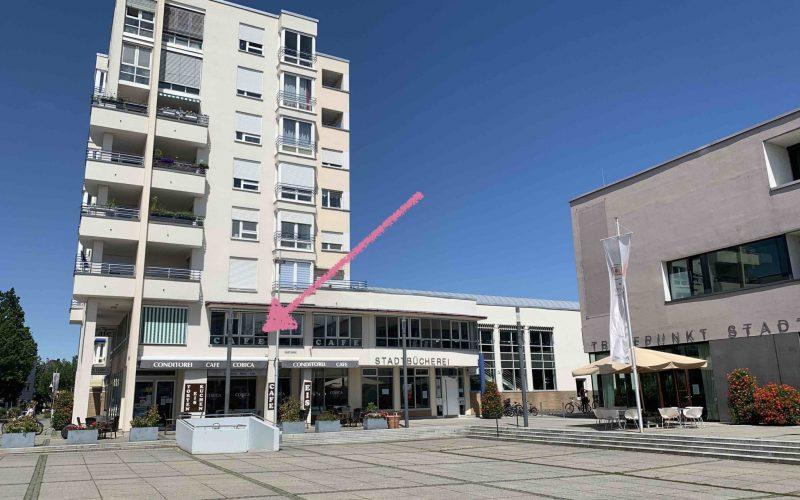 2 verbundene Gewerbeetagen, repräsentativ in 1A-Lage: Café, Ladengeschäft, Büro, Praxis
