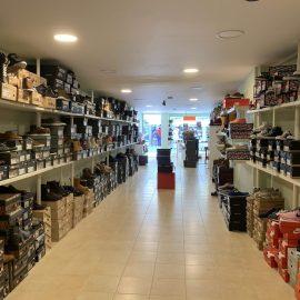 Blick vom hinteren Bereich des Ladens
